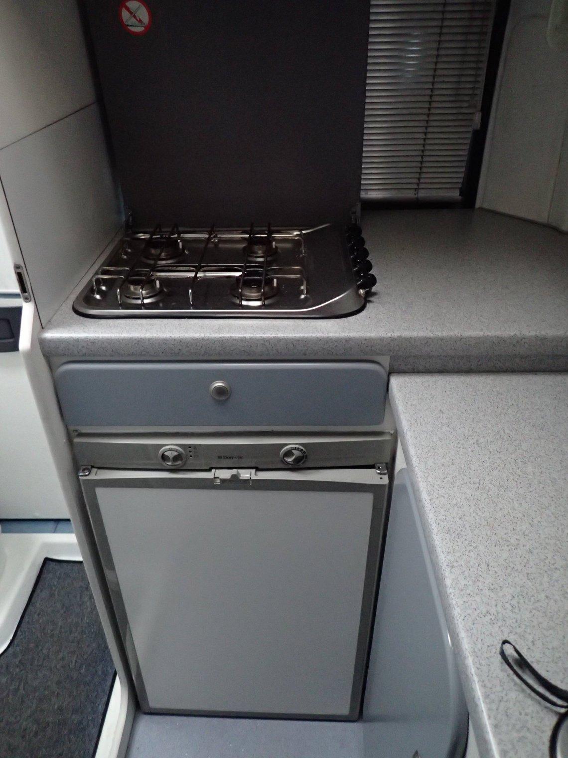 Dometic fridge, Grill and 4 burner hob