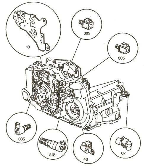 small resolution of  interesting notes about the 4t45e transmission gm 4t45e internal components jpg