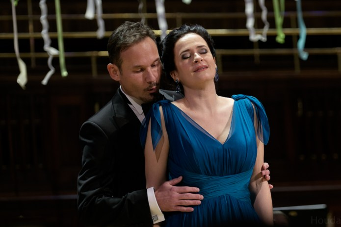 Simona Šaturová and Mariusz Kwiecien at Gala Concert in Prague, December 2016