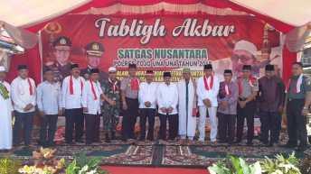 Dalam Rangka Menjaga Situasi Kamtibmas Yang Kondusif, Satgas Nusantara Polres Touna Gelar Tablig Akbar