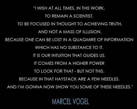 Marcel Vogel Quotation