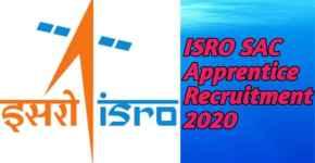 ISRO SAC Apprentice Recruitment 2020