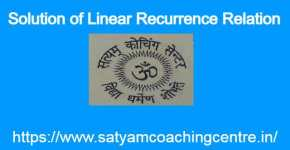 Solution of Linear Recurrence Relation