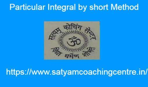 Particular Integral by short Method in PDE