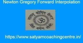 Newton Gregory Forward Interpolation
