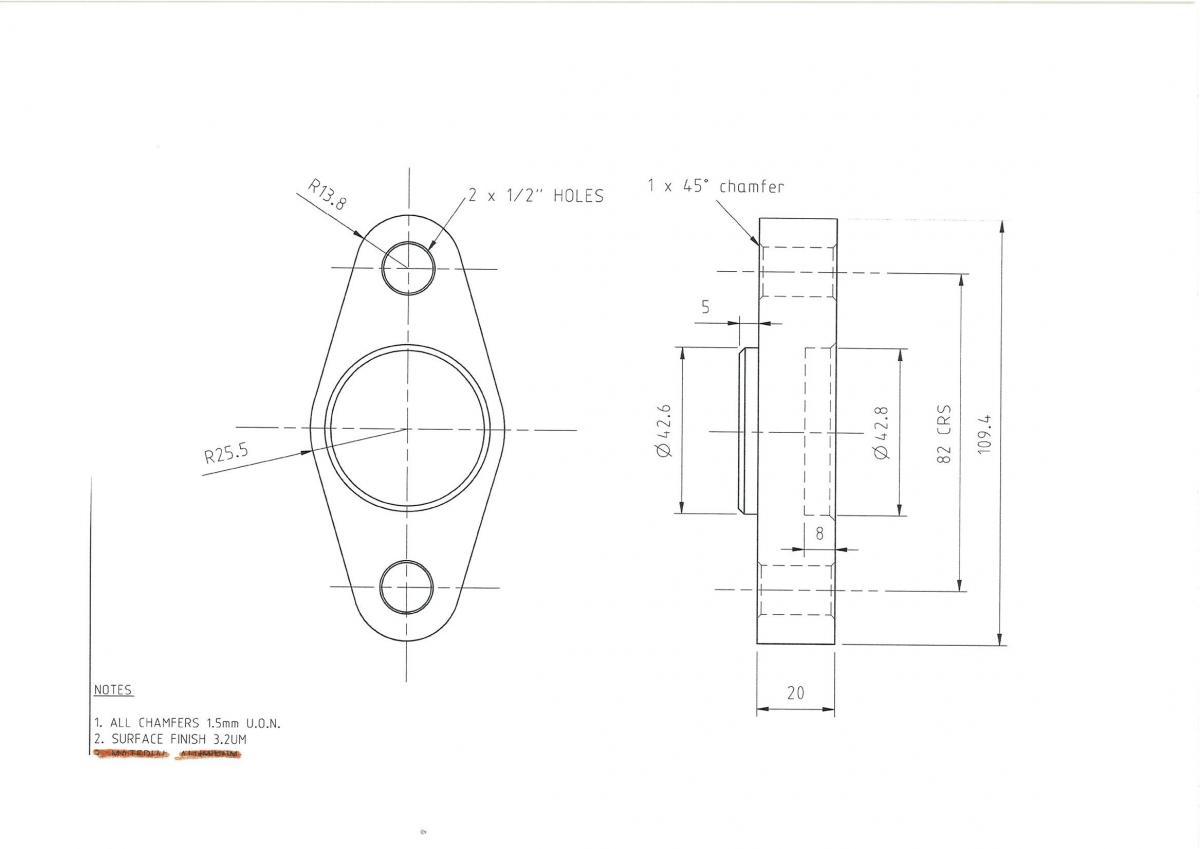 R32 Gtr Roll Centre Adjusters
