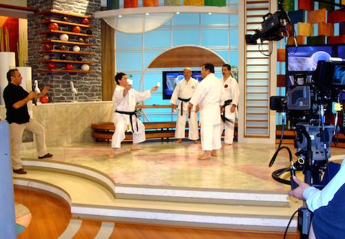 Demostración en televisión chilena