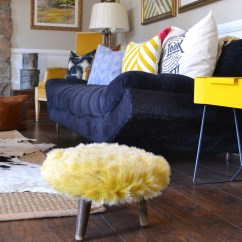 Living Room Side Table Interior Design Layout Ideas 5 Tips For A Feng Shui Sauder Woodworking Blue Couch Against Wall With Yellow Via Hearts And Sharts