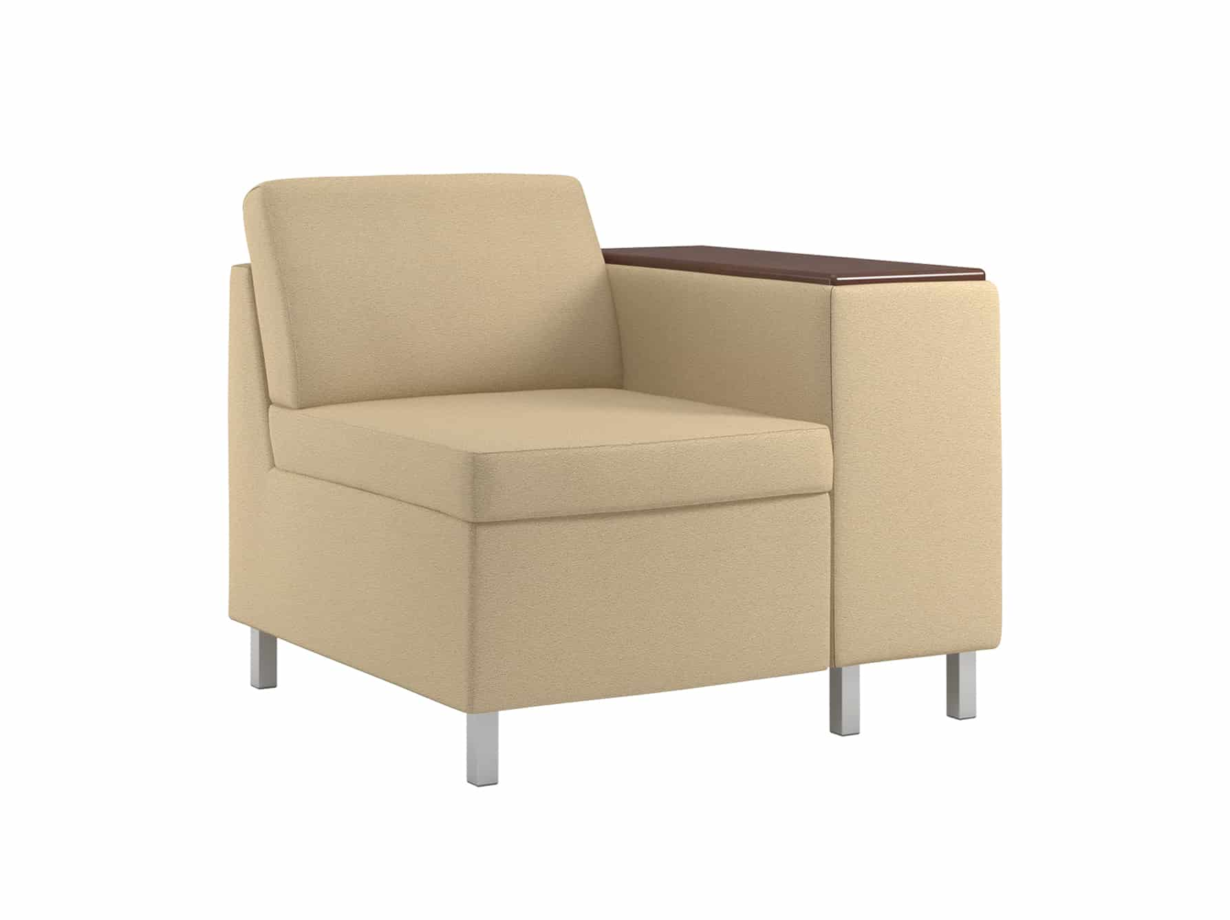 lobby sofa crossword diamond leather look corner chaise with bed rally compose chair 1 table arm sauder education