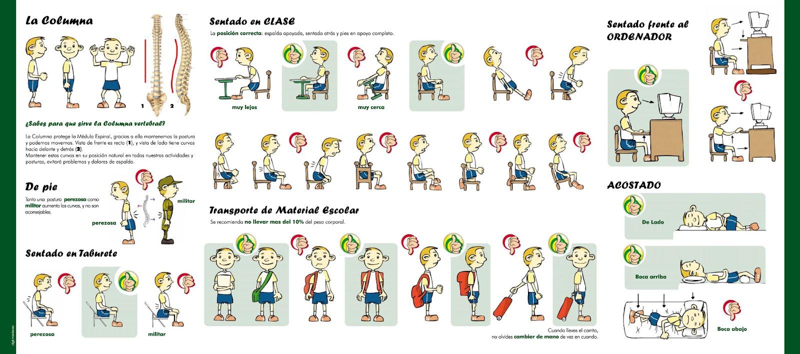 Higiene postural para nios  Saudeter