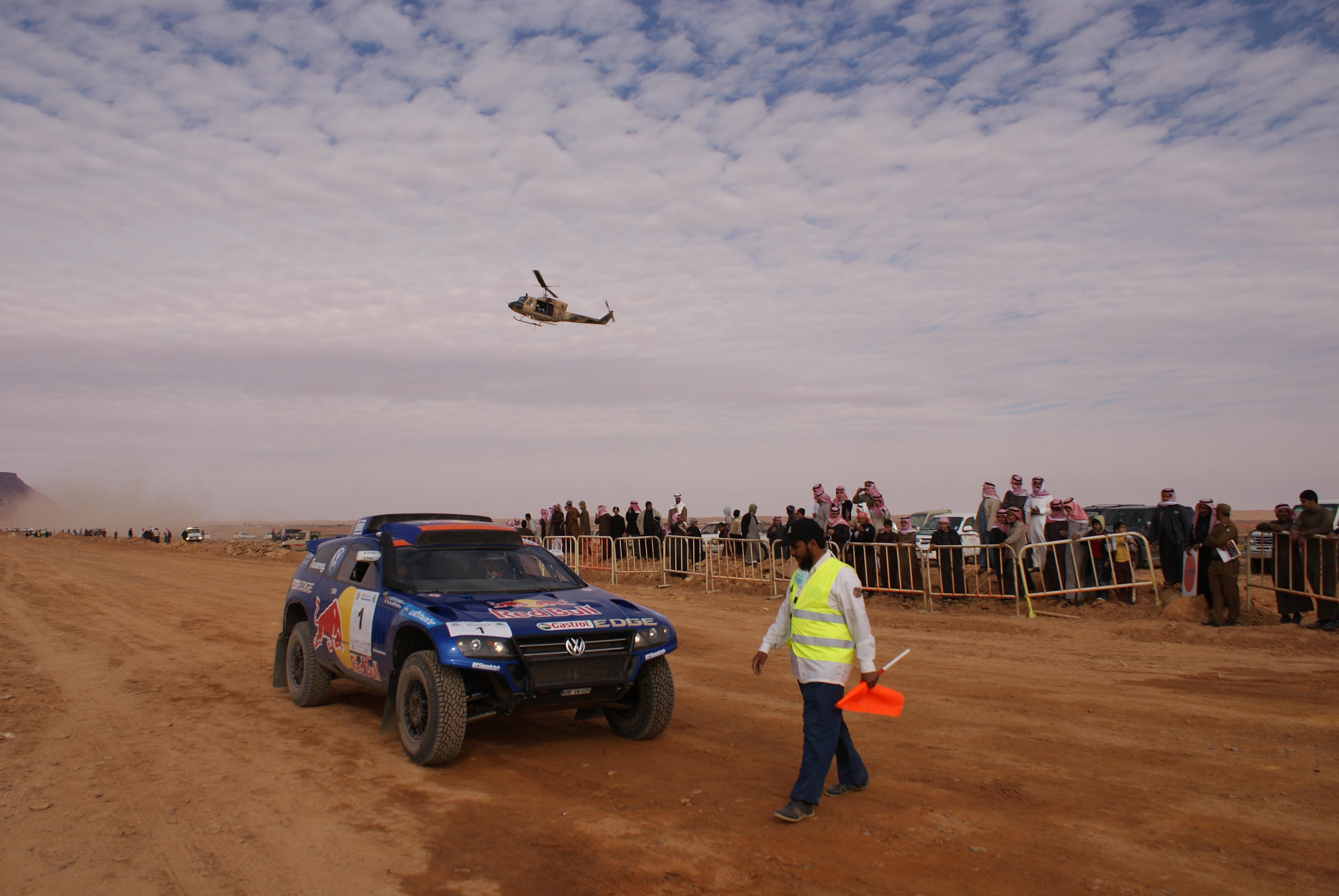 Nasser Al-Attiyah in his Dakar Rally winning VW at the Ha'il Rally