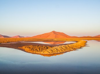Lake in the Rub' Al-Khali resulting from drillings (photo: F. Egal)