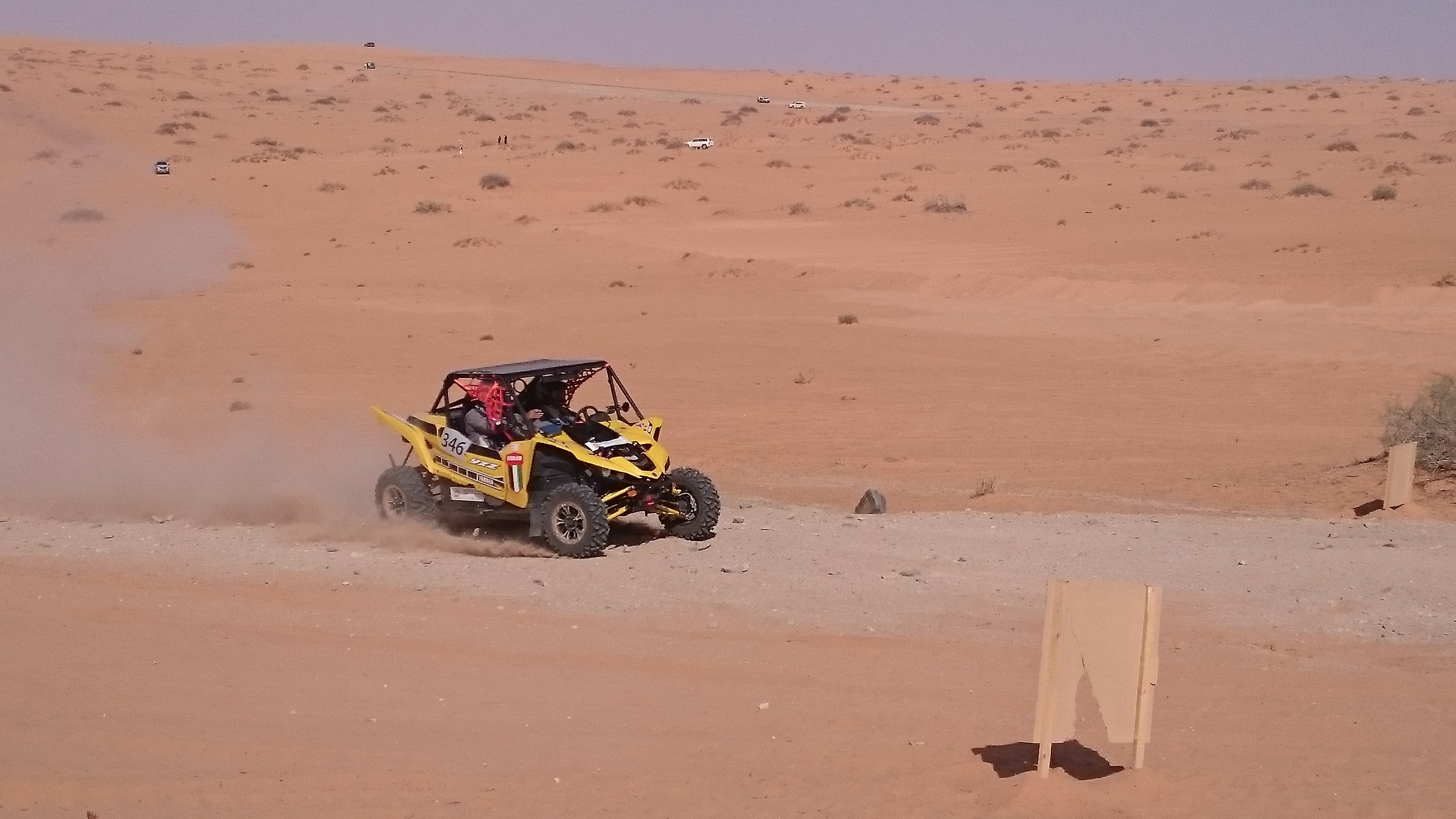 Making sure to cross a waypoint during the desert stage of the Ha'il Rally