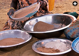 Making couscous, among the most traditional staple foods not only in Mauritania but throughout North and West Africa, is a women's culinary craft that can take up to two hours.