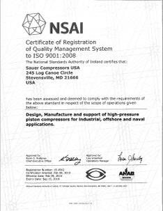 NSAI-Cert Sauer USA