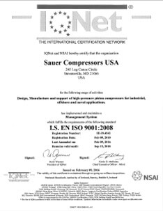 iso certification Sauer USA