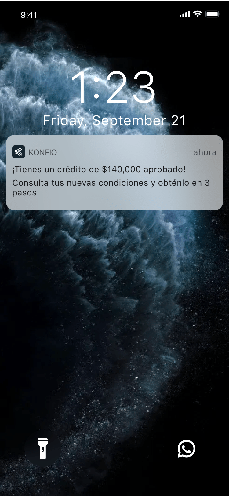Konfío app notificaciones push
