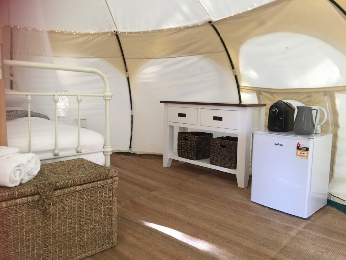 Harmony Belle Tent - Pod Coffee - Daylesford Holiday Park Resized