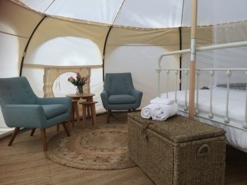 Harmony Belle Tent - Relaxation Area - Daylesford Holiday Park Resized