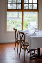 Views of the kitchen garden from the dining room