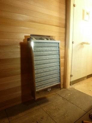 Ruimtebesparende saunaoven