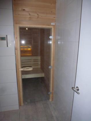 Zicht op de sauna