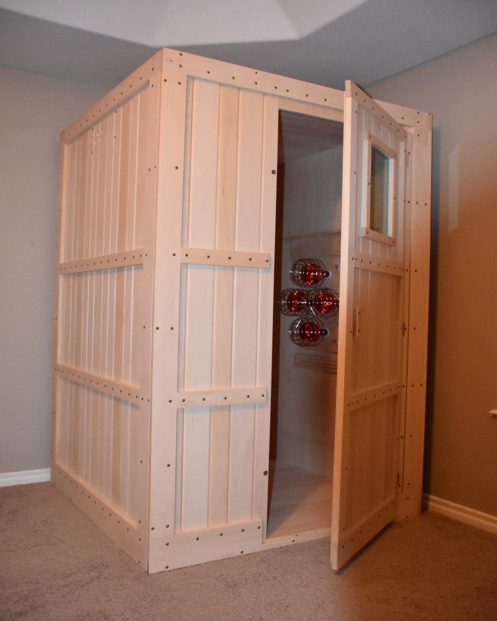 Home infrared sauna 1 person premium sauna comfort for Sauna home