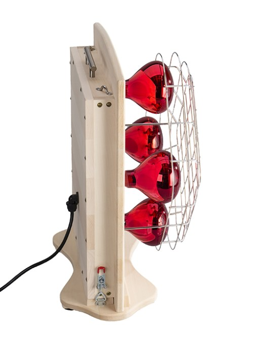 Near-infrared sauna lamps - side view