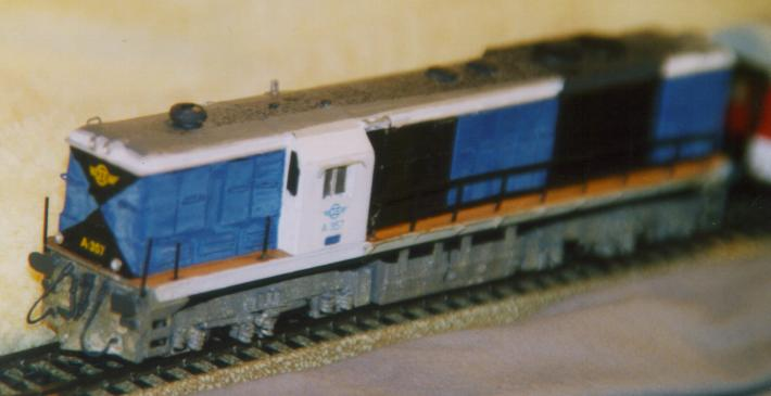 H0scaled DCpowered Alsthom Locomotive Model in Hellenic Livery
