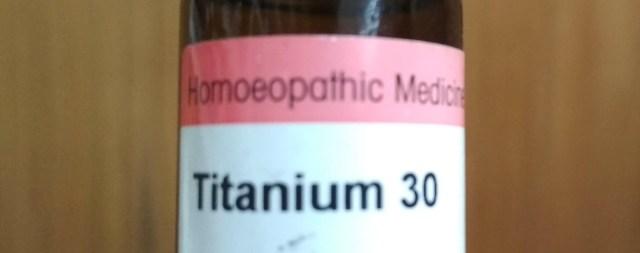 Titanium homeopathy