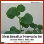 Coleus Aromaticus Homeopathy Uses