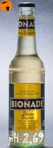 Bionade Zitrone Bergamotte pH 2,69