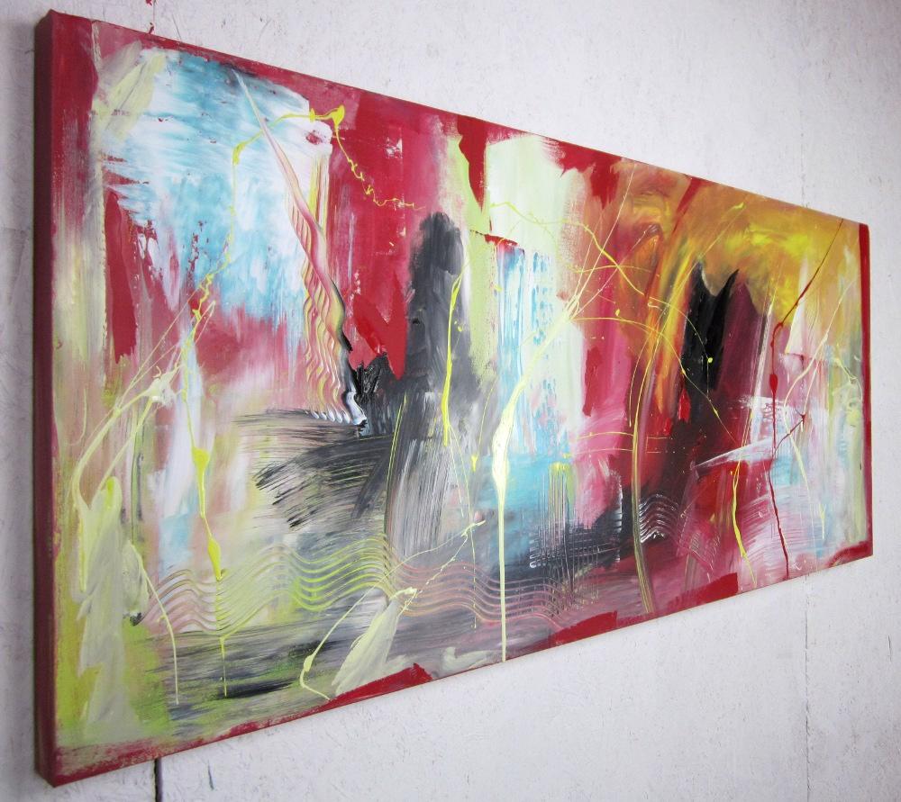 quadri astratti per soggiorno moderno 150x65  sauro bos