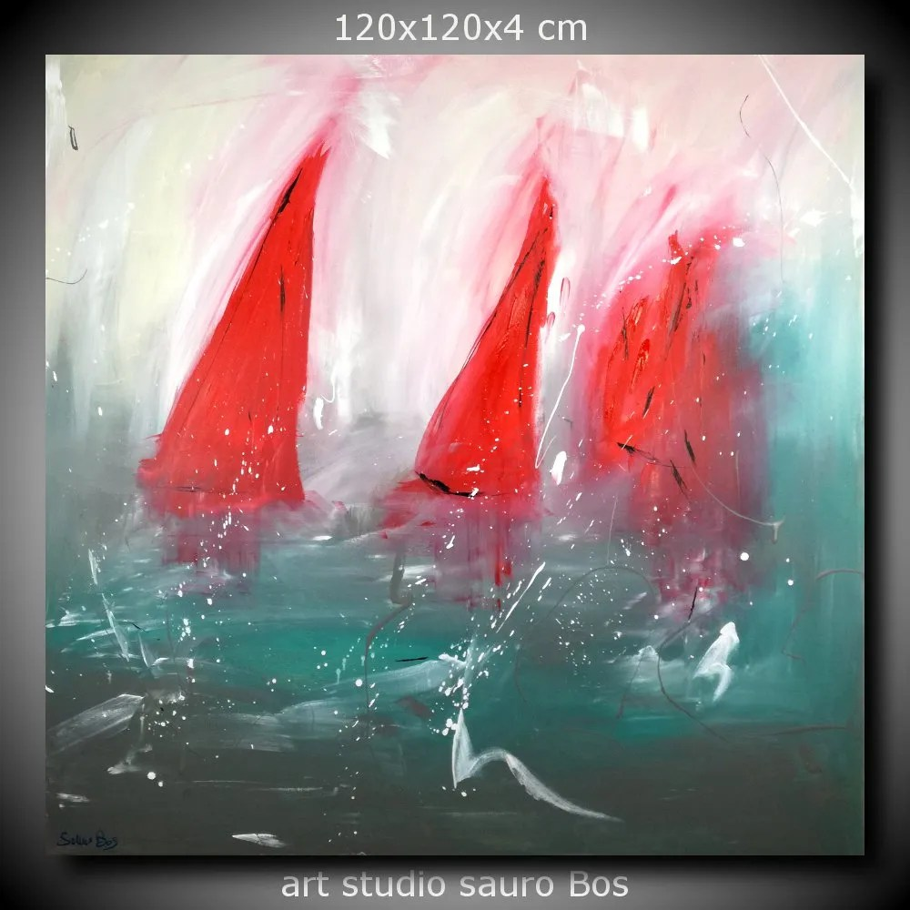 quadri astratti dipinti olio su tela 120x120  sauro bos