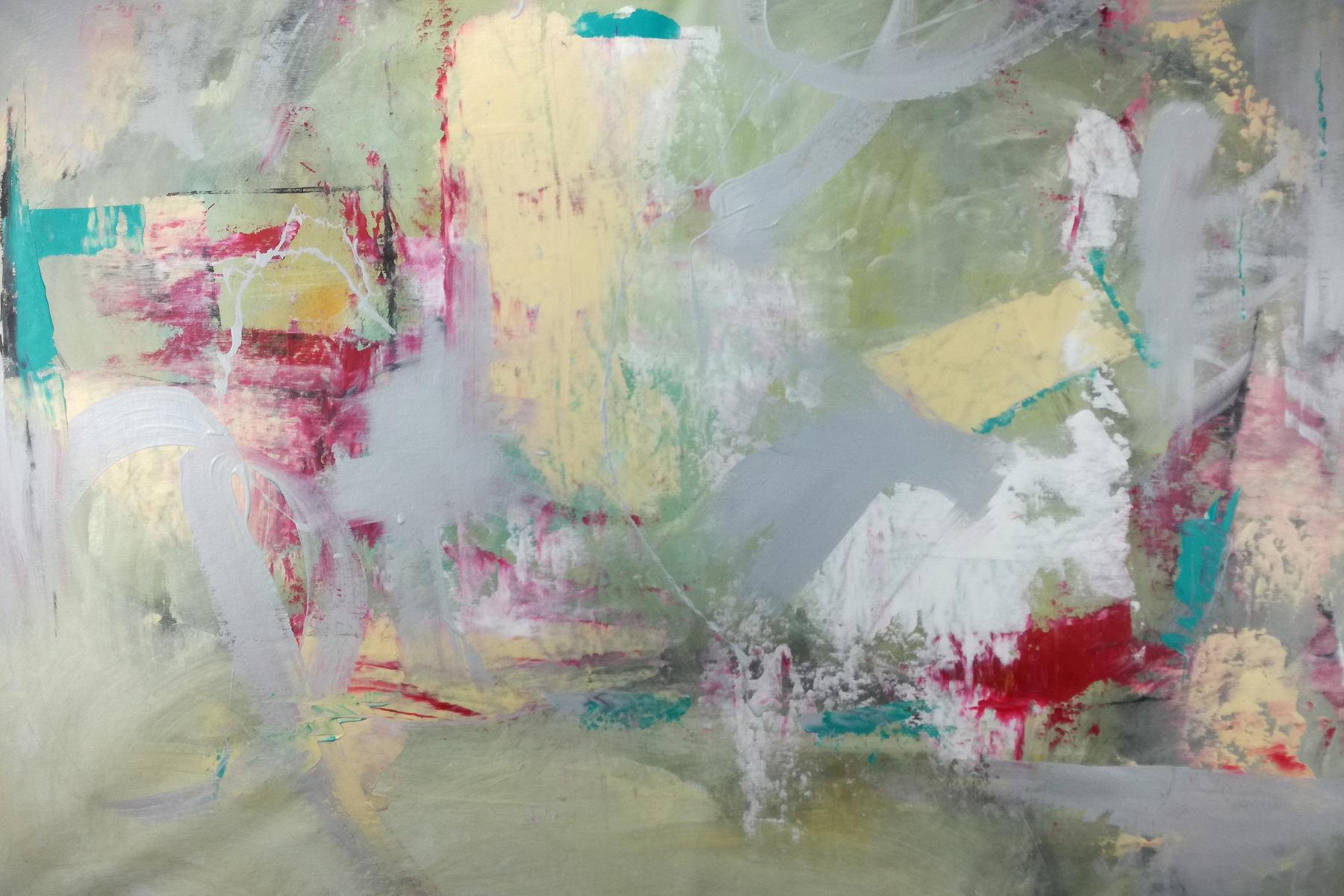 quadri grandi su tela 120x80 giallo rosso grigio  sauro bos