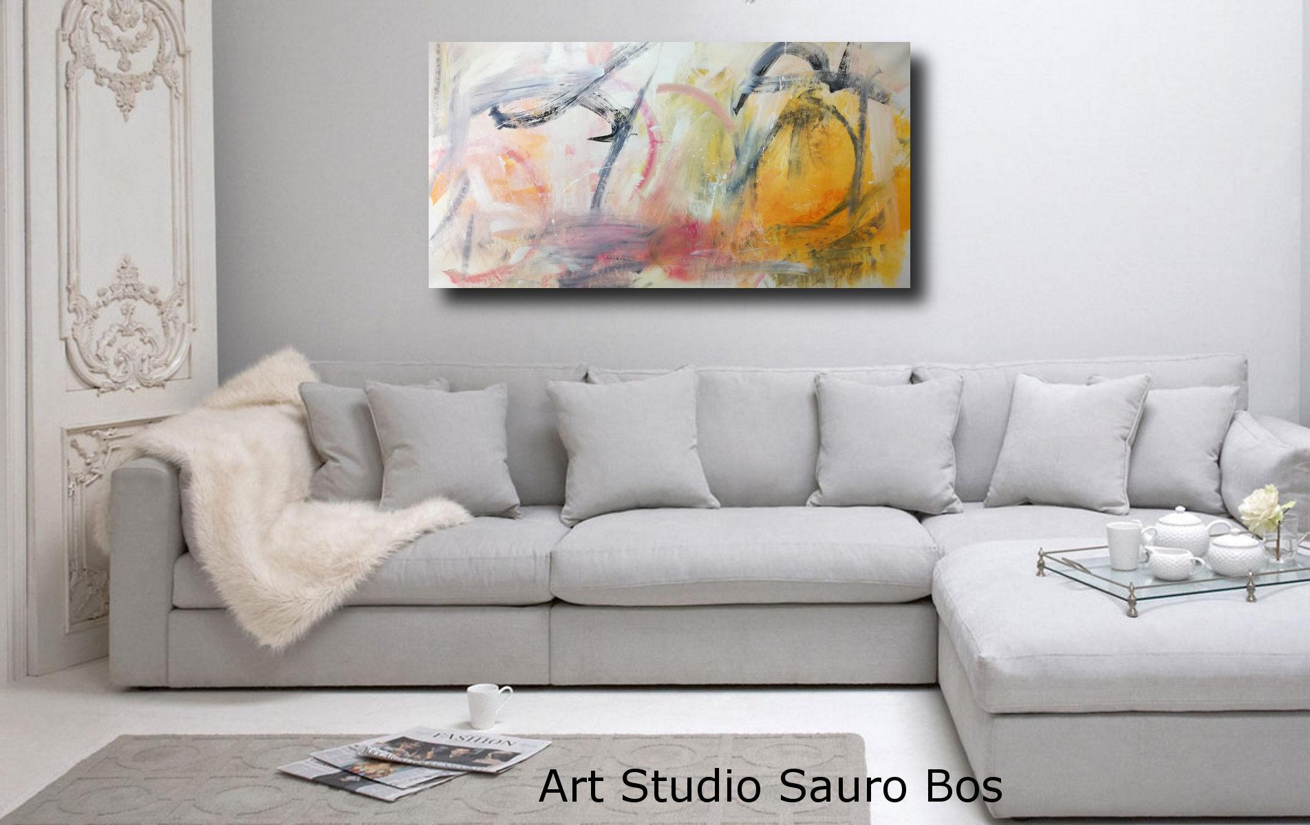 dipinti moderni orizzontali per soggiorno 120x60  sauro bos