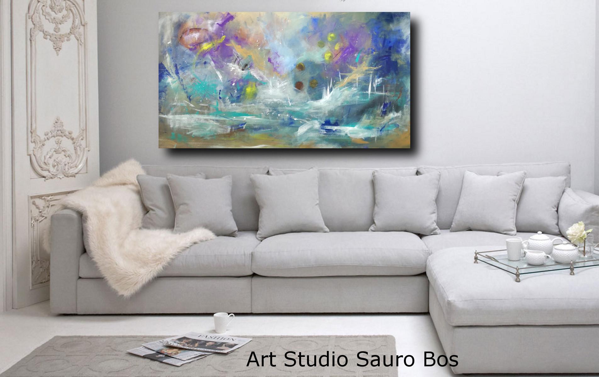 quadri moderni su tela paesaggio 150x80 sauro bos