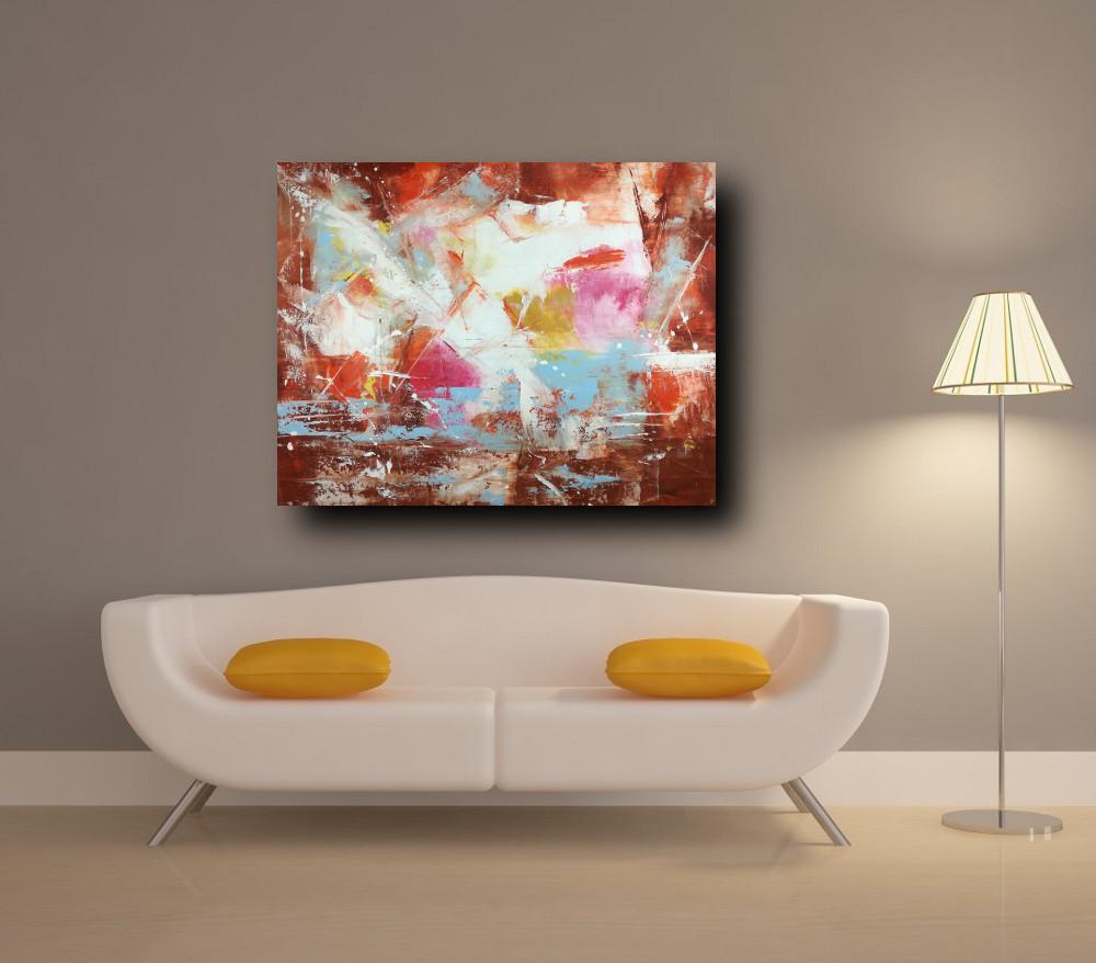 quadri astratti per soggiorno officio su tela 100x80