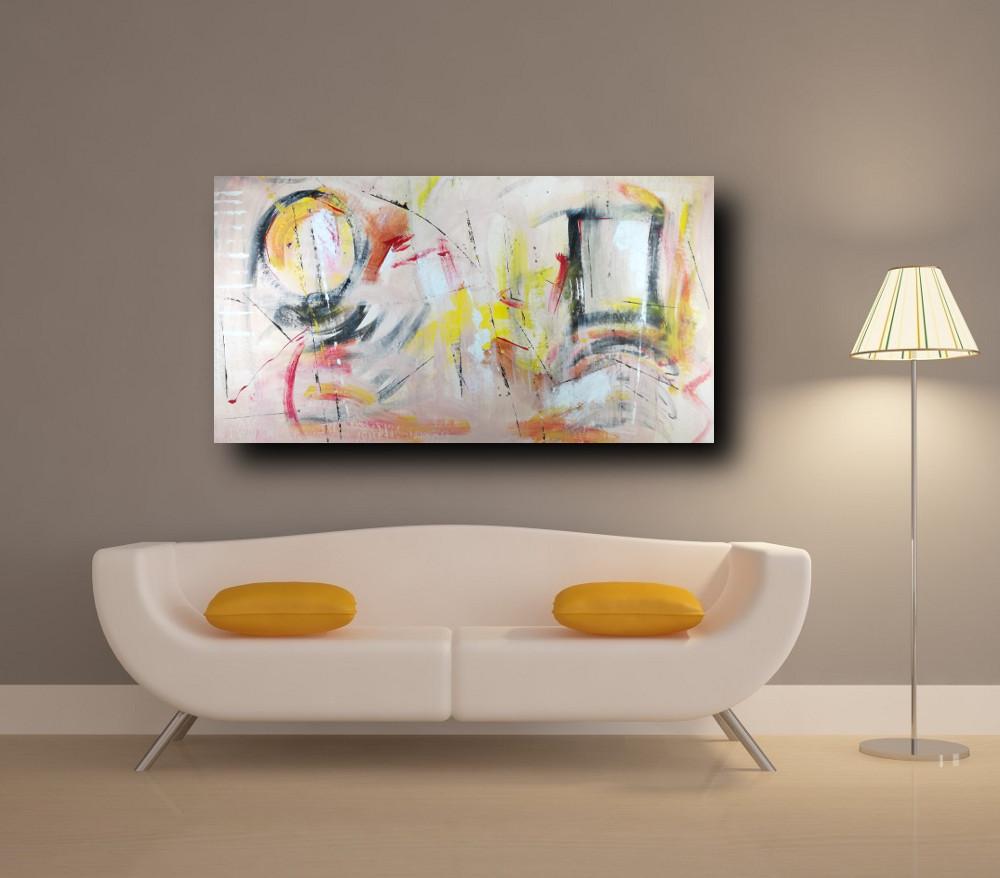 quadri per soggiorno astratti su tela 150x80 sauro bos