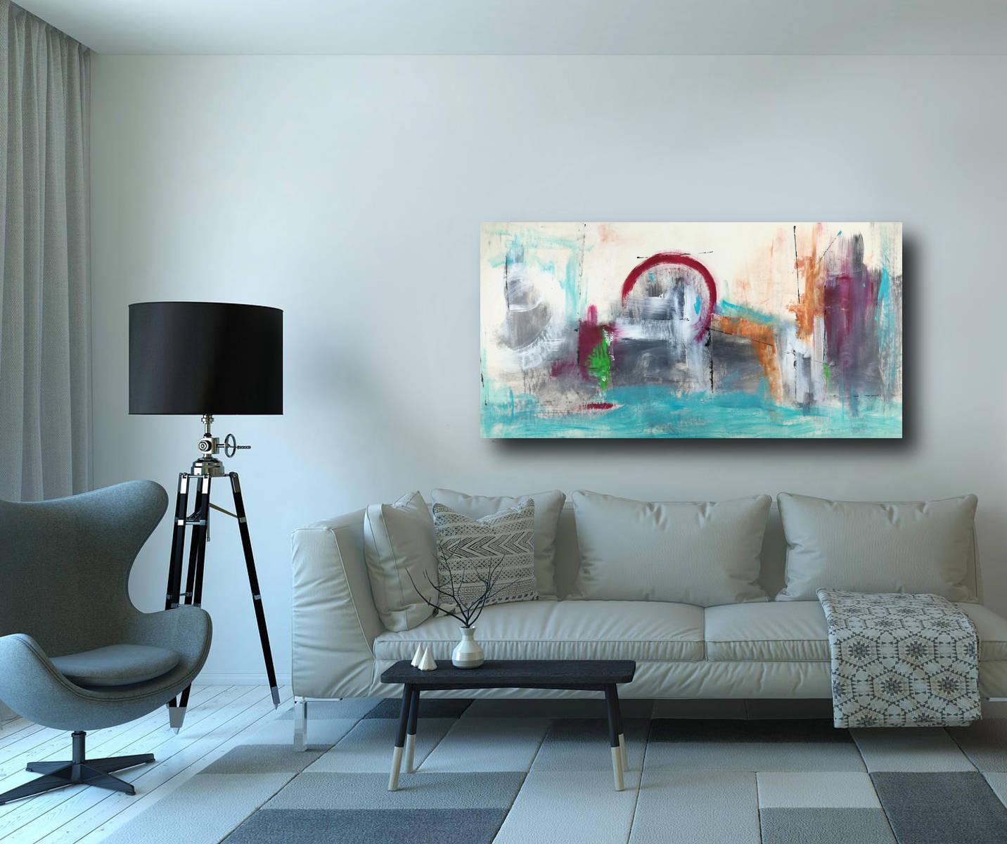 quadri astratti per soggiorno moderno 120x60  sauro bos