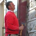 Fassadenreparatur, Innsbruck