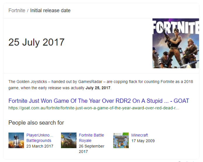Fortnite wins GOTY over Red Dead Redemption 2 in 2018 | Sausage Roll