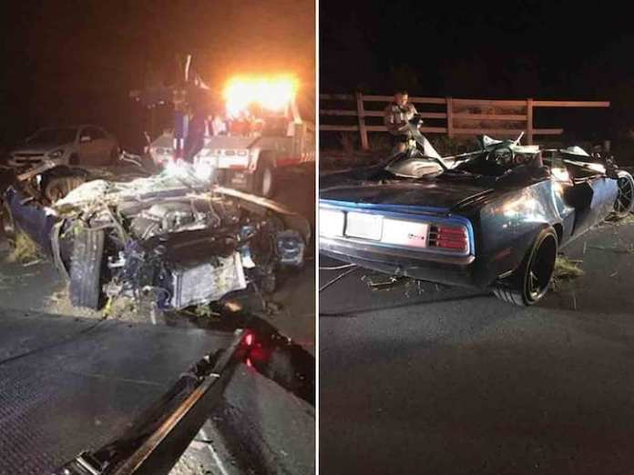 Kevin Hart's car accident aftermath photos