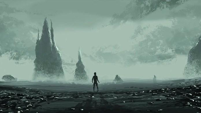 Death Stranding scary mist concept art