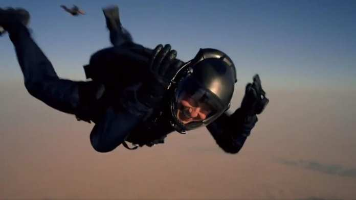 Tom Cruise in Mission: Impossible - Fallout, Halo jump