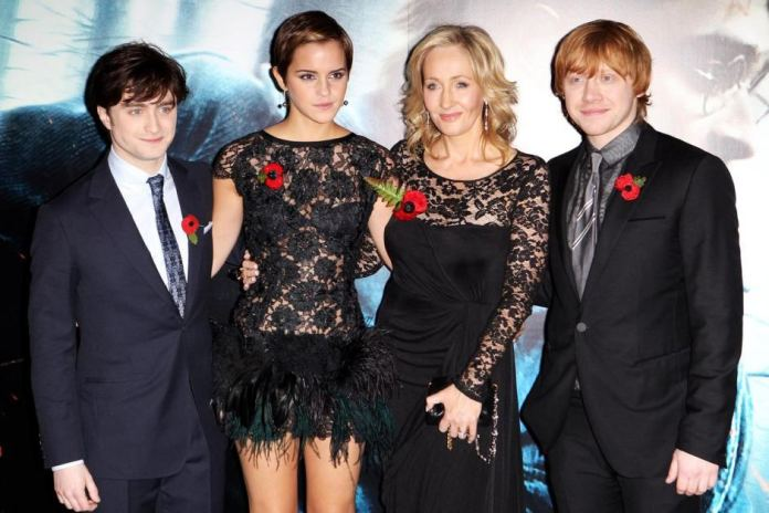 Radcliffe, Watson, Rowling and Grint