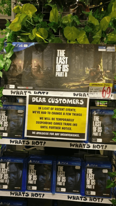 JB Hi-Fi The Last of Us Part II trade-in