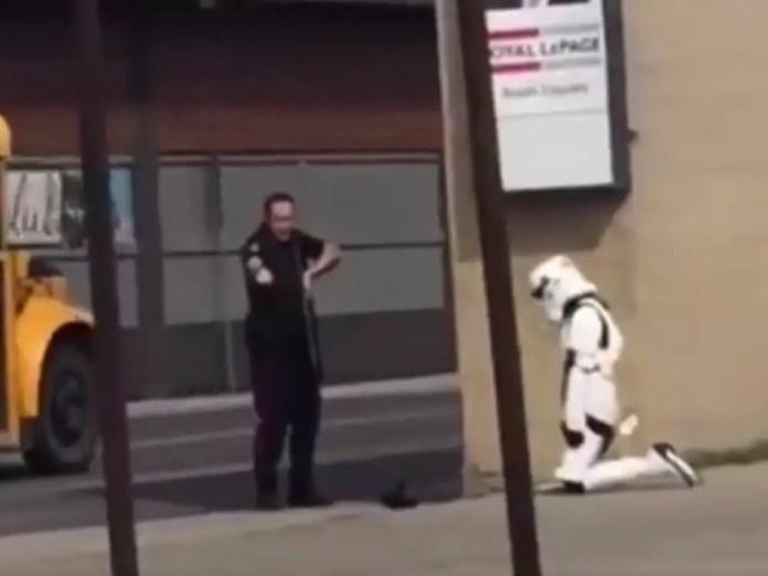 Female stormstrooper arrested Canada