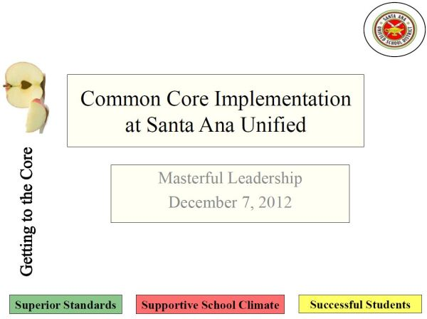 Common Core State Standards Presentations