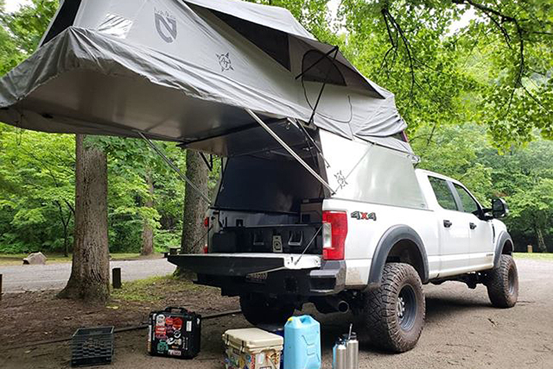 Overland Ford F250 Stx With An At Habitat Truck Camper